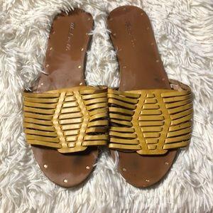 Madewell slip on weaved sandals